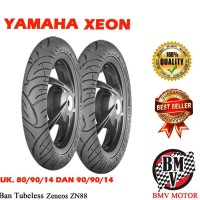 Baru Ban Motor Xeon Tubeless Zeneos 2 Pcs Uk.80.90.14 & 90.90.14 Zn88