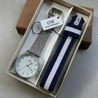 jam tangan pria wanita DW WD Daniel wellington free tali kanvas