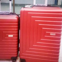 koper fiber polo 20 inch merah tas travel troly cabin size