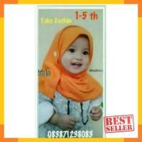 Pashmina anak merk HILZEA 1-5 th/pashmina instan/Jilbab anak