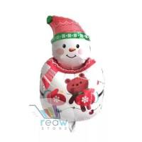 Best Seller Balon Foil Natal / Merry Christmas Snowman / Boneka Salju