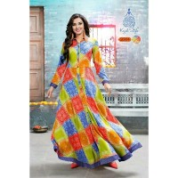 Dress laris Kajal Style rayon kurti maxi dress import india