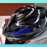 Helm Sepeda Pacific Sp Plus Red Signal Safety Light - Biru