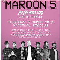 Tiket konser maroon five Singapore