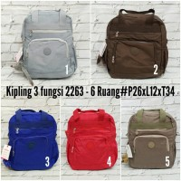 Backpack 3 in 1 Kipling 2263 - 6 Ruang