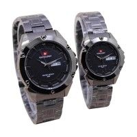 am Tangan Swiss Army SA2706 Stainless Steel Jam Couple – JC603