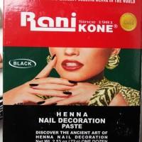 Rani Kone Henna Pacar / Cat Kuku / Kutek Warna Hitam Halal