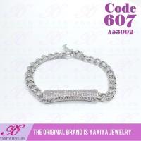 Gelang Tangan Silver permata perhiasan imitasi lapis emas 18K 607