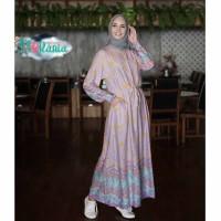 Gamis Cantik Etnik Katun Rayon Motif Batik Jumputan/Gamis Rayyana