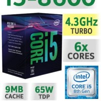 Processor Komputer Intel Core I5-8600 Coffee Lake Terbaru 2018