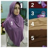 Jilbab Instan RAZWA Kancing Bahan Jersey