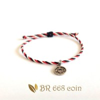 Gelang Tridatu Ariel Noah Koin Warna Silver BR668 coin