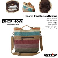 👜 Colorful Travel Fashion Handbag   Casual Retro Canvas