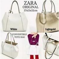Harga dijual promo tas zara ori 2 in 1 reversible tote bag original | Pembandingharga.com