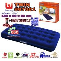 PAKET Bestway 67001 Kasur Angin Twin + Pompa Tangan SNI