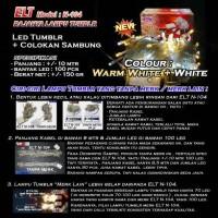 Lampu Natal Hias LED Warm White and Putih ELT N-104 INDOOR