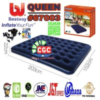 Paket Bestway 67003 Kasur Angin Queen + Pompa Listrik SNI