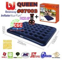 Paket Bestway 67003 Kasur Angin Queen + Pompa Tangan 12 inch SNI