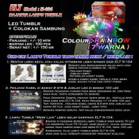 Lampu Natal Hias LED TWINKLE/TUMBLR Rainbow 7-8 COLOURS ELT N-104