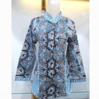 Blus batik kantor | Baju batik wanita