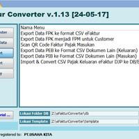 Software eFaktur Pajak Converter e-Faktur E Faktur Tools CSV Creator