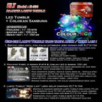 Lampu Natal Hias LED RGB (Red-Green-Blue)