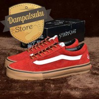 100% PREMIUM!! VANS OLD SKOOL PRO S GOLF WANG RED CHILI GUM WAFFLE 967a3962bf