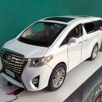 Diecast Toyota Alphard putih miniatur mobil keluarga lokal harga murah