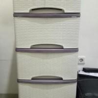 Harga best seller lemari plastik murah merk lily motif rotan 5 susun | Pembandingharga.com