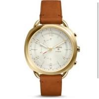 [MAMAUPI.SHOP] Smartwatch Fossil Hybrid Q Accomplice Luggage FTW1201 O