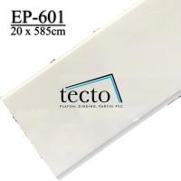 TECTO Plafon PVC EP-601 (20cm x 585cm) PUTIH POLOS