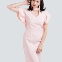 Meraki Blush Pink Formal /Dress Natal/Dress Imlek/Dress Pesta import