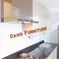 kitchen set apartemen jakarta aica cokelat granit