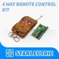 Remote Control Wireless RF 4 Channel Tombol Receiver Arduino