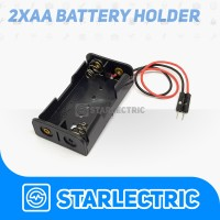 Battery holder Baterai kotak AA x 2 Header Male