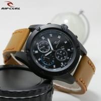 Jual Jam tangan pria Ripcurl crono off tanggal aktif tali kulit kw super Murah