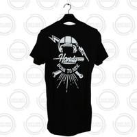 Honda ORI Street Black Hitam T-Shirt Kaos Keren
