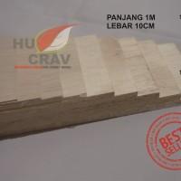 Kayu Balsa Sheet Tebal 2mm Dimensi 10cm X 100cm (2x100x1000mm) murah