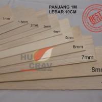 Kayu Balsa Sheet Tebal 3mm Dimensi 10cm X 100cm (3x100x1000mm) murah