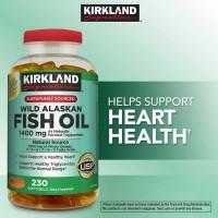 Kirkland Signature Wild Alaskan Fish Oil, 1, 400 mg., 230 Softgels.