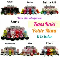 Kaos Kaki Sepatu Petite Mimi 6 pcs Girl/Kaos Kaki Bayi Anti Slip