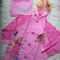 Jas Hujan Anak Karakter Perempuan Cewek Barbie Raincoat(Di atas Kido)