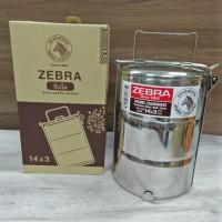 Zebra Rantang Makan / Food Carrier Stainless Uk 14cm Susun 3 - 150143