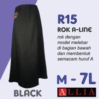 Rok Big Size A Line Wanita Jumbo Allia R15 M 7L Kerja Panjang SAKC0187