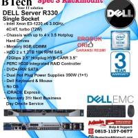 DELL Server R330 Intel Xeon E3-1220v6/8GB/2x 1.2TB SAS RackmountSeries