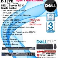 DELL Server R330 Intel Xeon E3-1220v6/8GB/1x 1TB SATA RackmountSeries