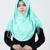 Kerudung Instan Najwa Pad/Ped Serut Khimar Hijab Instan Sekolah