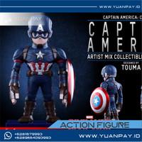 HOT TOYS Civil War Captain America + Falcon AMC021 Perfect Box
