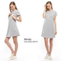 Just Mom Baju menyusui MINDY Grey stripe MD141