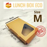PAPER LUNCH BOX ECO MEDIUM/ KOTAK NASI/ MIE/ KATERING/ DUS KEMASAN